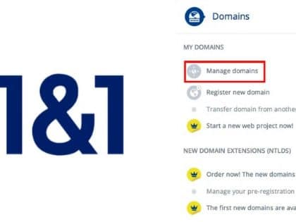 How to Change Name Servers with 1 & 1